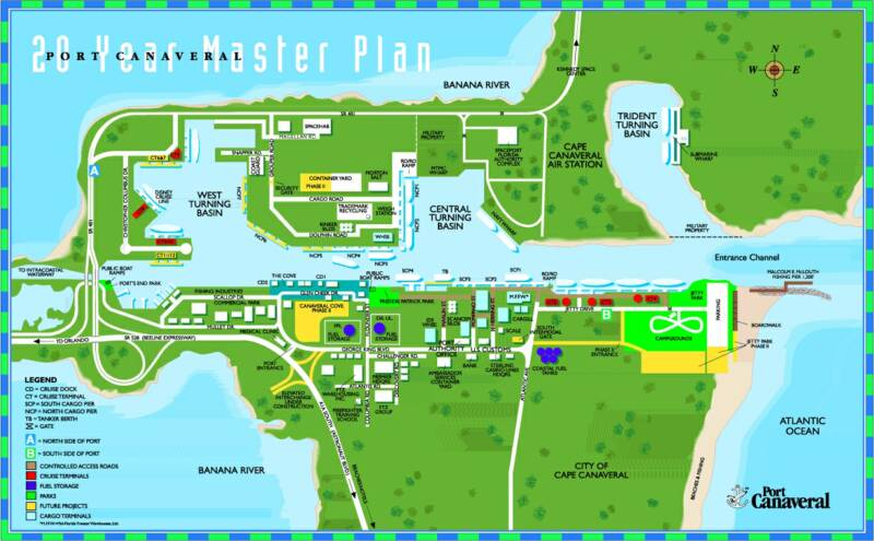 Map of Port Canaveral